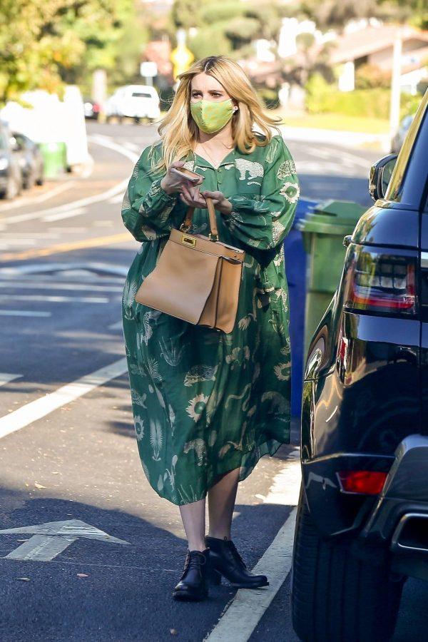 Emma Roberts Seen while leaves her home in Los Feliz 07
