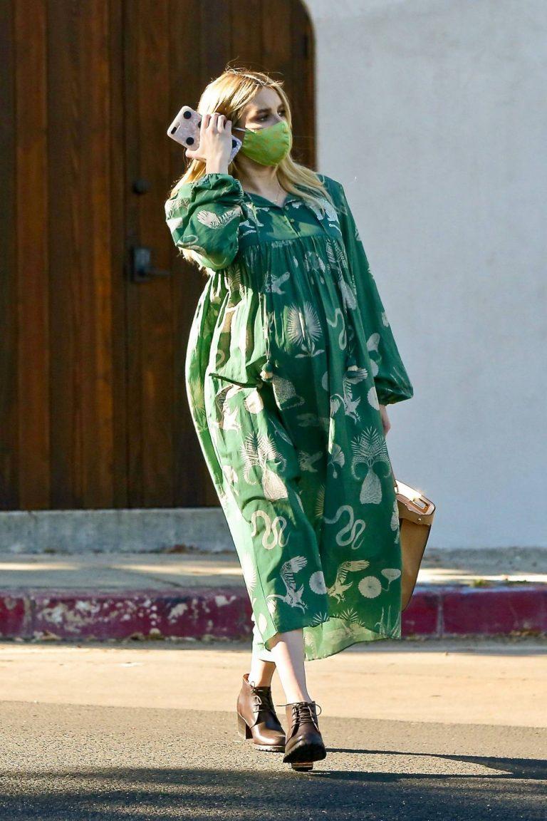 Emma Roberts Seen while leaves her home in Los Feliz 09