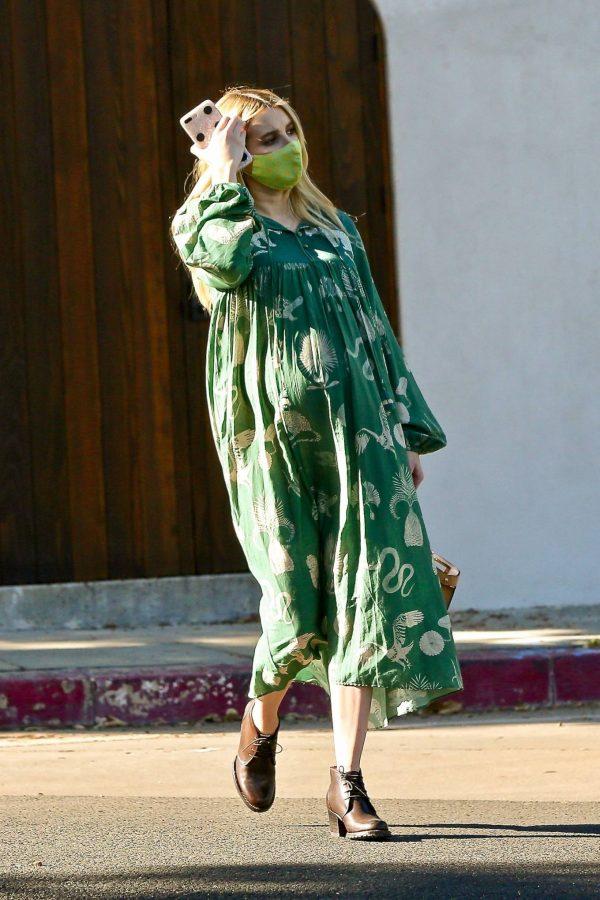 Emma Roberts Seen while leaves her home in Los Feliz 11