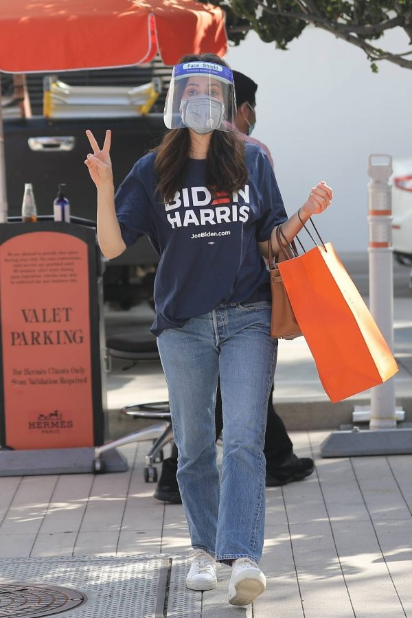 Emmy Rossum Shopping candids at Hermes on Rodeo Dr. in Beverly Hills 02