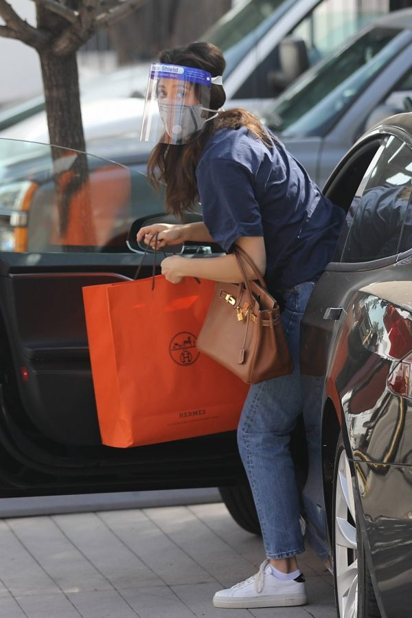 Emmy Rossum Shopping candids at Hermes on Rodeo Dr. in Beverly Hills 06