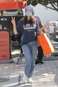 Emmy Rossum Shopping candids at Hermes on Rodeo Dr. in Beverly Hills 07