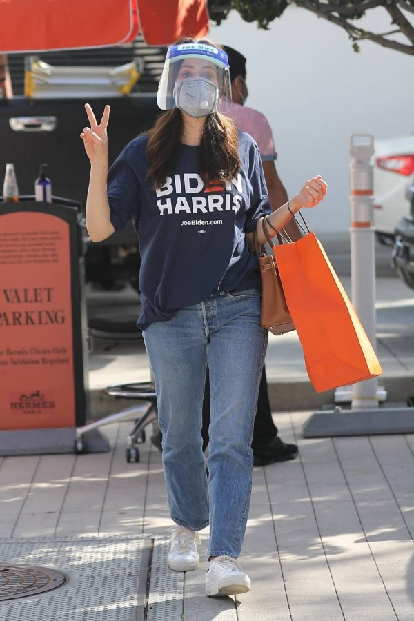 Emmy Rossum Shopping candids at Hermes on Rodeo Dr. in Beverly Hills 08