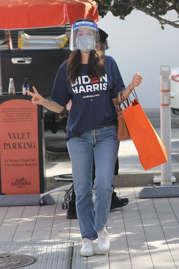 Emmy Rossum Shopping candids at Hermes on Rodeo Dr. in Beverly Hills 09