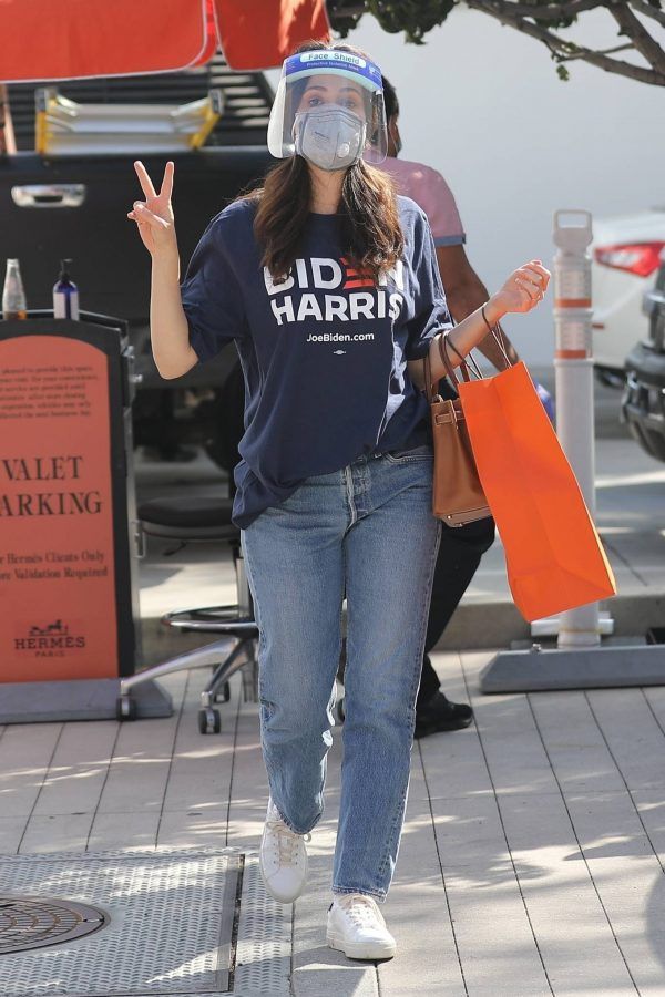 Emmy Rossum Shopping candids at Hermes on Rodeo Dr. in Beverly Hills 10