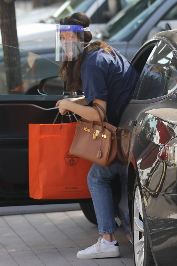 Emmy Rossum Shopping candids at Hermes on Rodeo Dr. in Beverly Hills 11