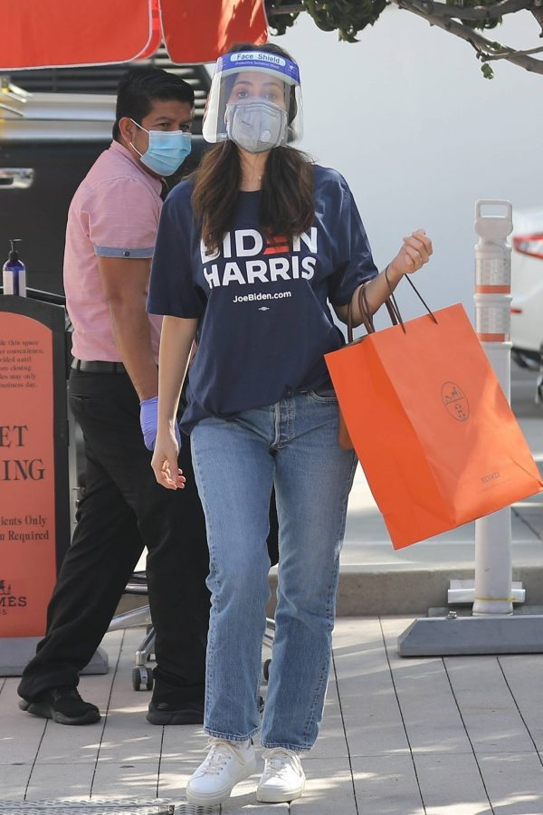 Emmy Rossum Shopping candids at Hermes on Rodeo Dr. in Beverly Hills 13