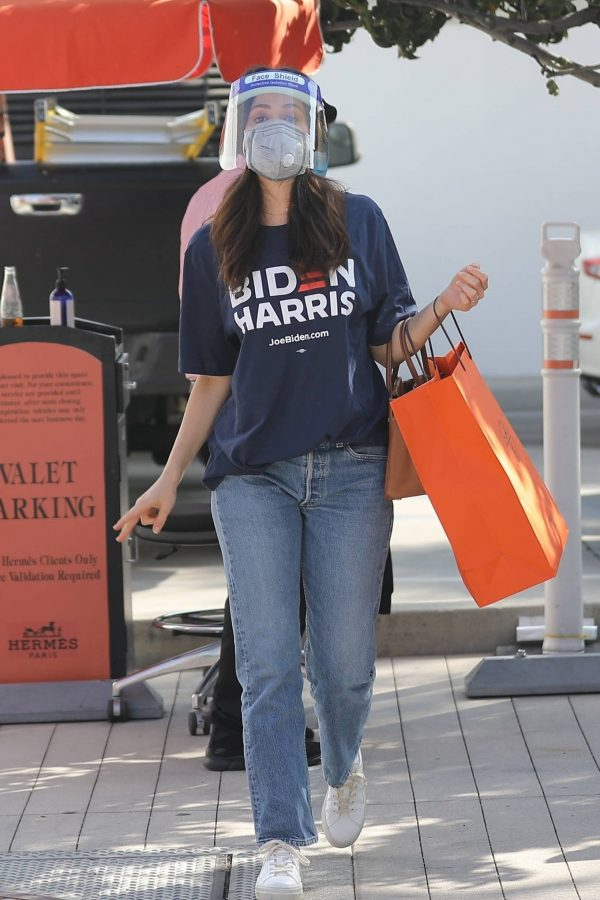 Emmy Rossum Shopping candids at Hermes on Rodeo Dr. in Beverly Hills 14