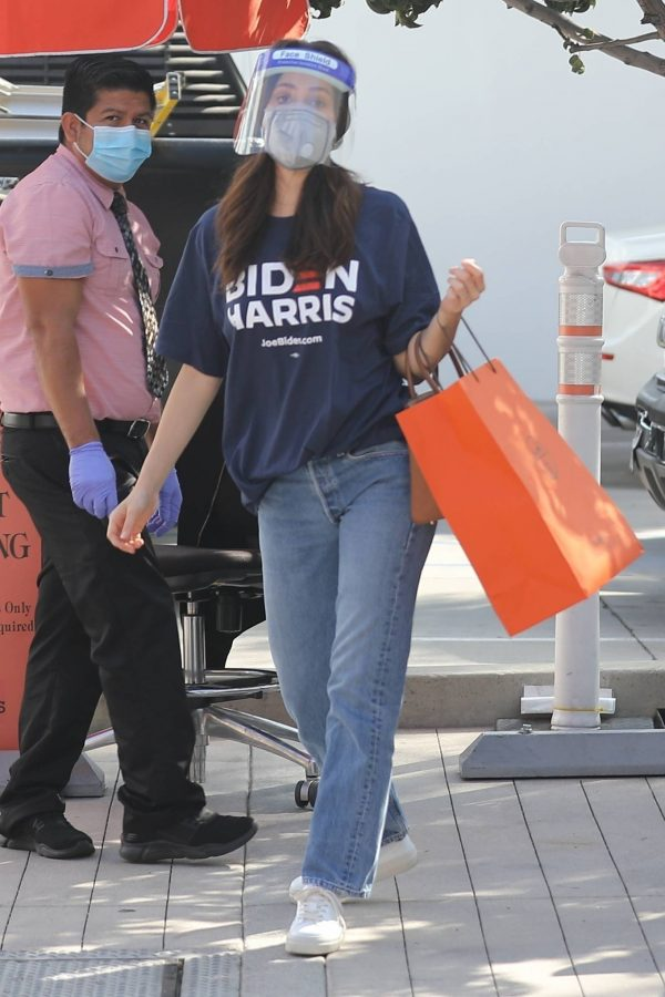 Emmy Rossum Shopping candids at Hermes on Rodeo Dr. in Beverly Hills 15