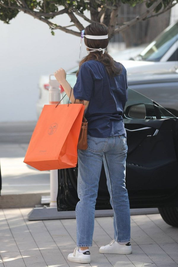 Emmy Rossum Shopping candids at Hermes on Rodeo Dr. in Beverly Hills 16