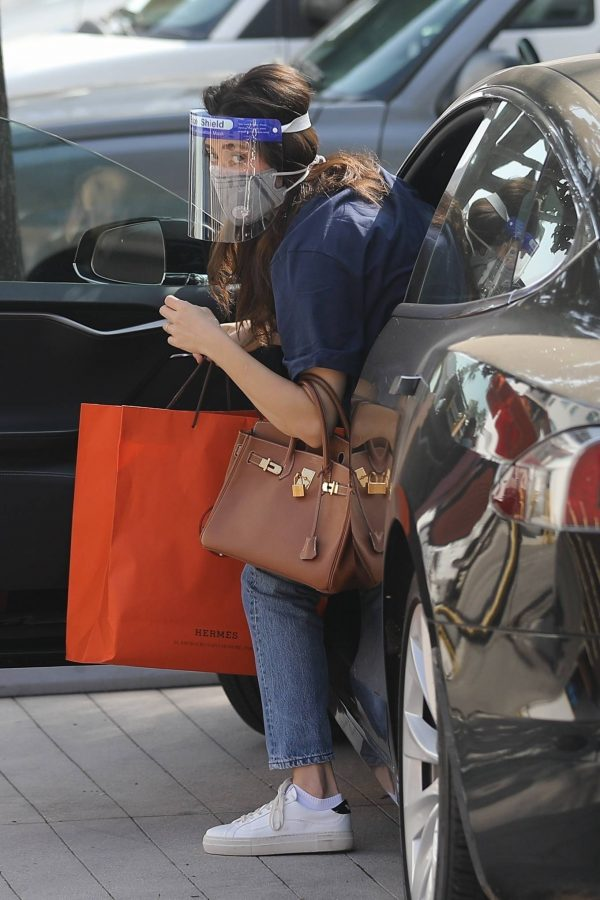 Emmy Rossum Shopping candids at Hermes on Rodeo Dr. in Beverly Hills 17