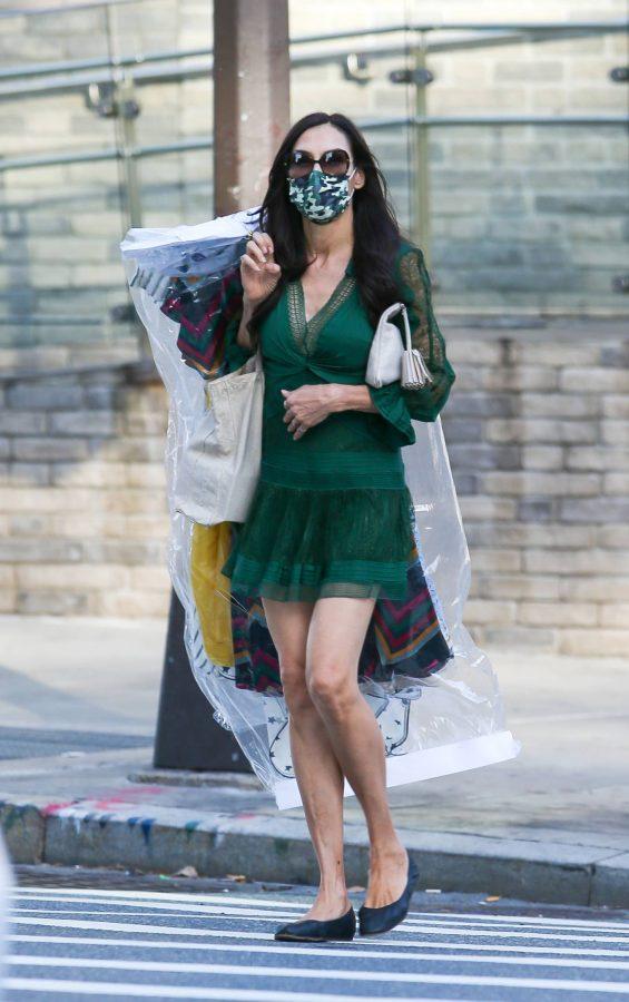Famke Janssen Running errands on her birthday in New York 02