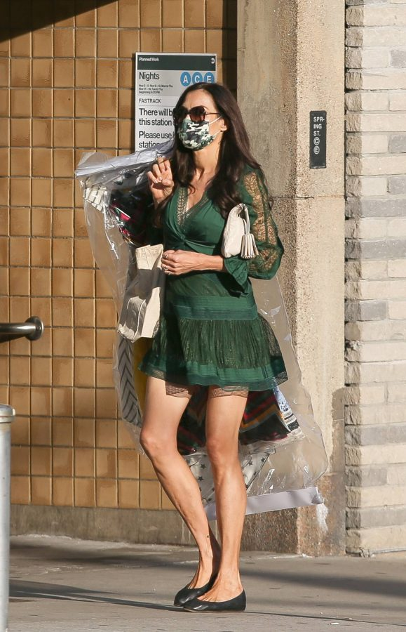 Famke Janssen Seen out and about in NYC 09