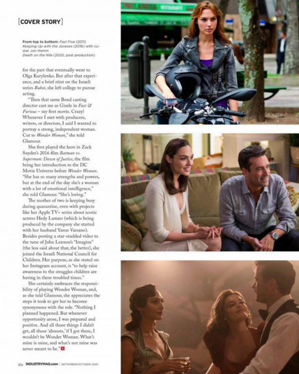 Gal Gadot Industry New Jersey magazine September October 2020 issue 06