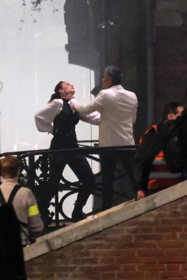 Hayley Atwell Filming a fight scene on the set of Mission Impossible 7 in Venice 01