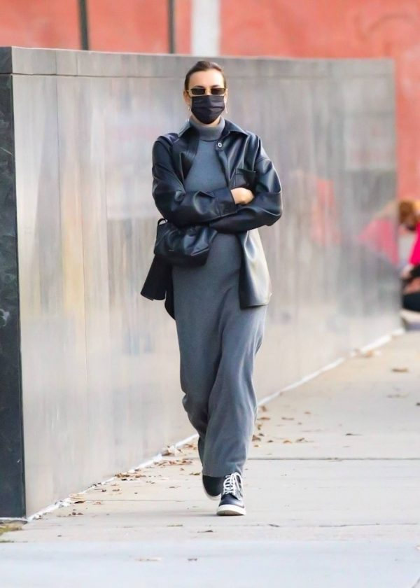 Irina Shayk In a monochrome ensemble while out in NY 03