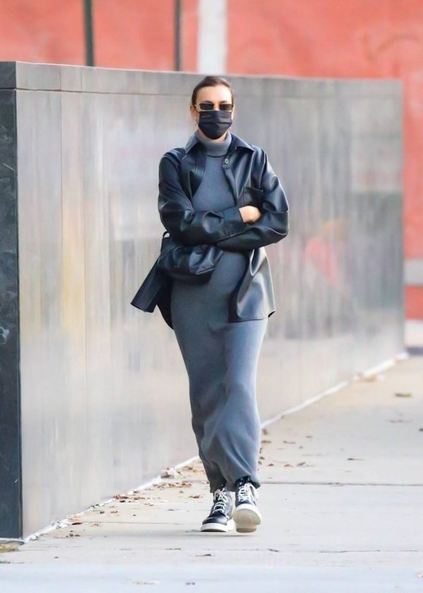 Irina Shayk In a monochrome ensemble while out in NY 10