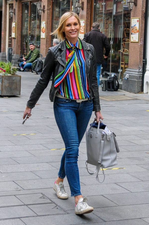 Jenni Falconer Leaving Global Studios Smooth FM in London 02