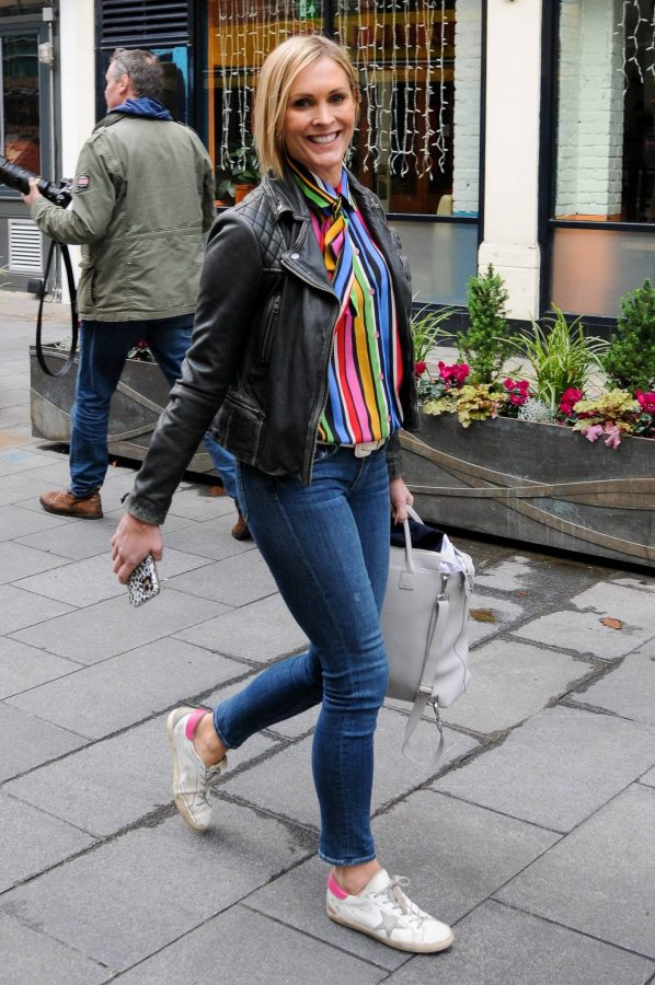Jenni Falconer Leaving Global Studios Smooth FM in London 03