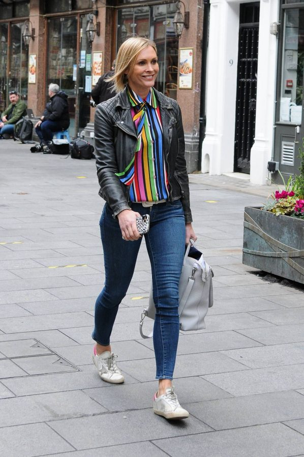 Jenni Falconer Leaving Global Studios Smooth FM in London 05