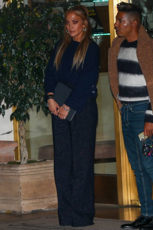 Jennifer Lopez Leaving dinner at Sunset Towers with friend Stevie Mackey in West Hollywood 06