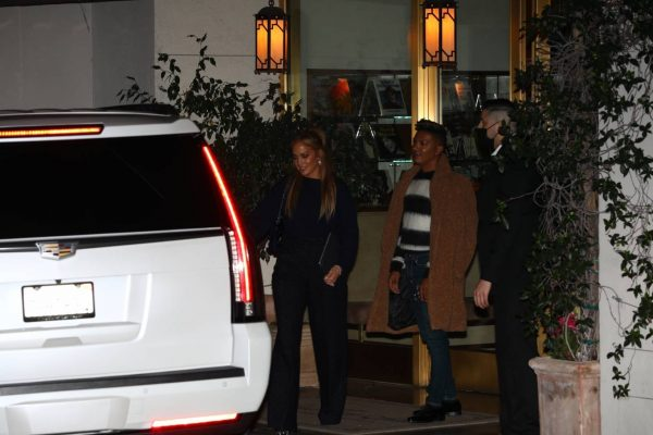Jennifer Lopez Leaving dinner at Sunset Towers with friend Stevie Mackey in West Hollywood 09