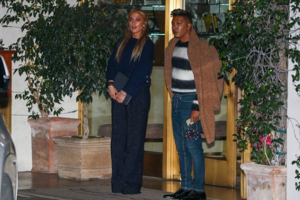 Jennifer Lopez Leaving dinner at Sunset Towers with friend Stevie Mackey in West Hollywood 11