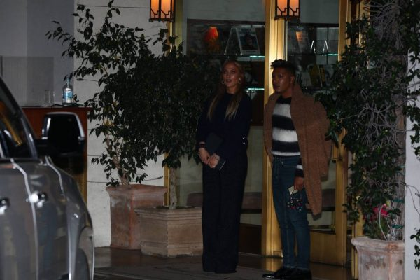 Jennifer Lopez Leaving dinner at Sunset Towers with friend Stevie Mackey in West Hollywood 12