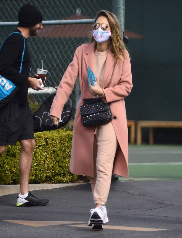 Jessica Alba Seen while leaving a tennis lesson in Los Angeles 28