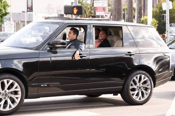 John Legend and Chrissy Teigen celebrate the Joe Bidens win while riding around in West Hollywood 19