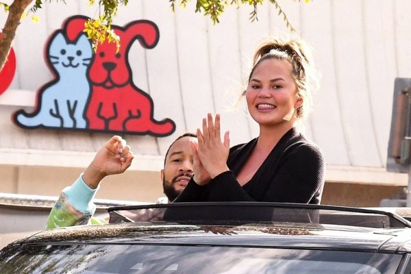 John Legend and Chrissy Teigen celebrate the Joe Bidens win while riding around in West Hollywood 20
