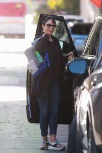 Jordana Brewster Is all smiles as she is out in Santa Monica 01