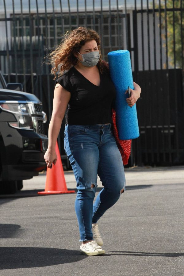 Justina Machado Heads into the DWTS studio in Los Angeles 01