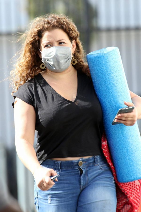 Justina Machado Heads into the DWTS studio in Los Angeles 03