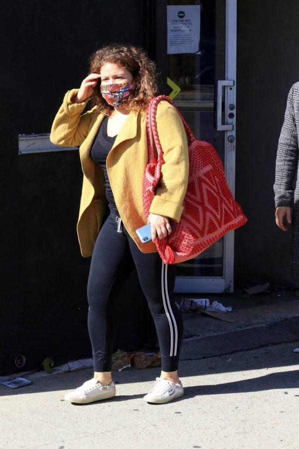 Justina Machado Seen leaving the DWTS studio in LA 09