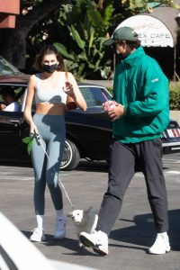 Kaia Gerber and Jacob Elordi Seen after a workout in West Hollywood 01