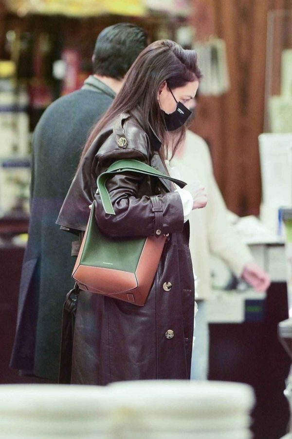 Katie Holmes Shopping candids at a paint store in New York 10