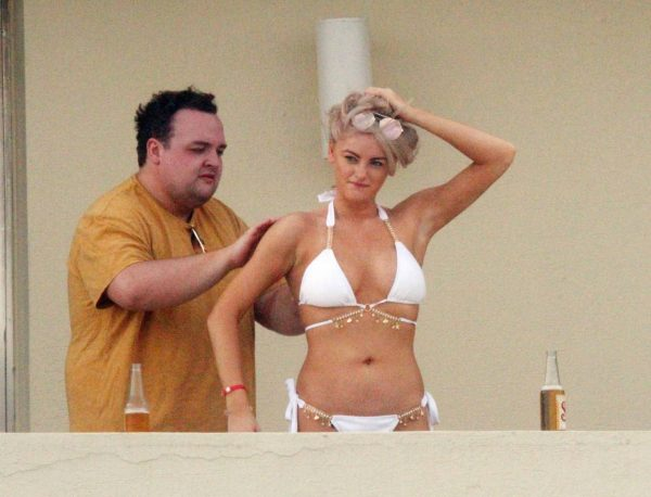 Katie McGlynn In white bikini on the beach in Mexico 03