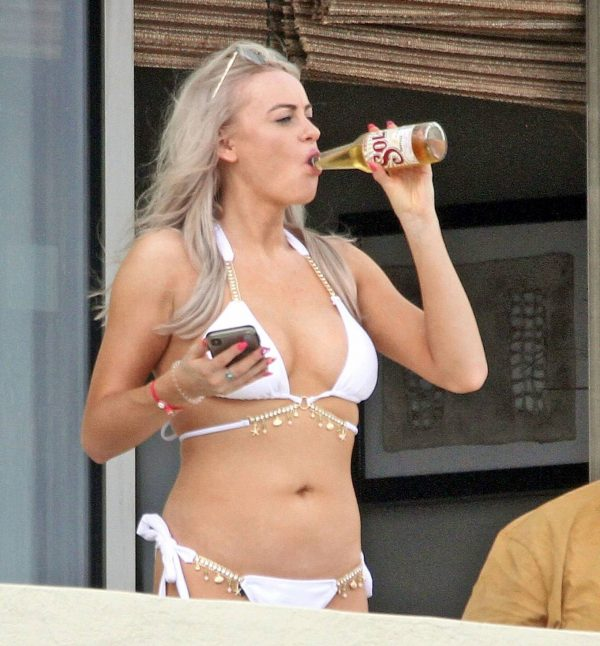 Katie McGlynn In white bikini on the beach in Mexico 05