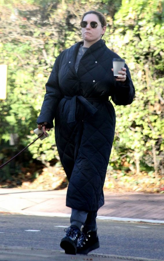 Kelly Brook Takes her dog Teddy out for a walk in London 04
