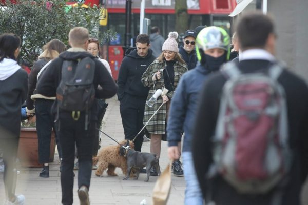 Kelly Brook and Jeremy Parisi take their puppy Teddy for a walk in Hampstead 14