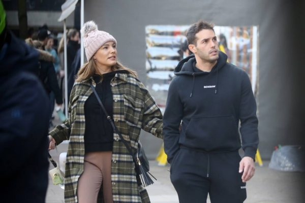 Kelly Brook and Jeremy Parisi take their puppy Teddy for a walk in Hampstead 16