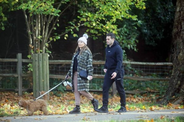 Kelly Brook and Jeremy Parisi take their puppy Teddy for a walk in Hampstead 17