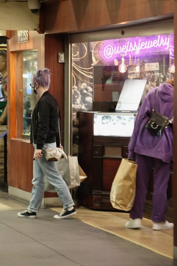 Kelly Osbourne Shopping candids with a friend at The Grove in Los Angeles 07