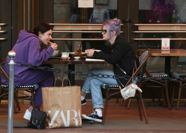 Kelly Osbourne Shopping candids with a friend at The Grove in Los Angeles 10