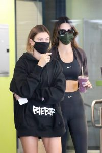 Kendall Jenner and Hailey Baldwin Shopping candids at Earthbar in West Hollywood 26
