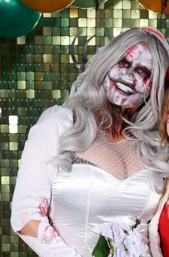 Kerry Katona Seen while celebrates Halloween at home in Sussex 01