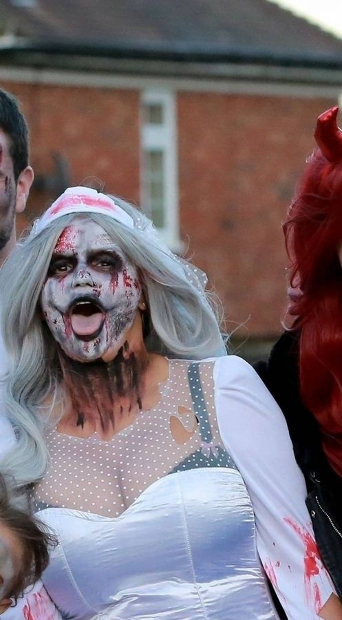 Kerry Katona Seen while celebrates Halloween at home in Sussex 08