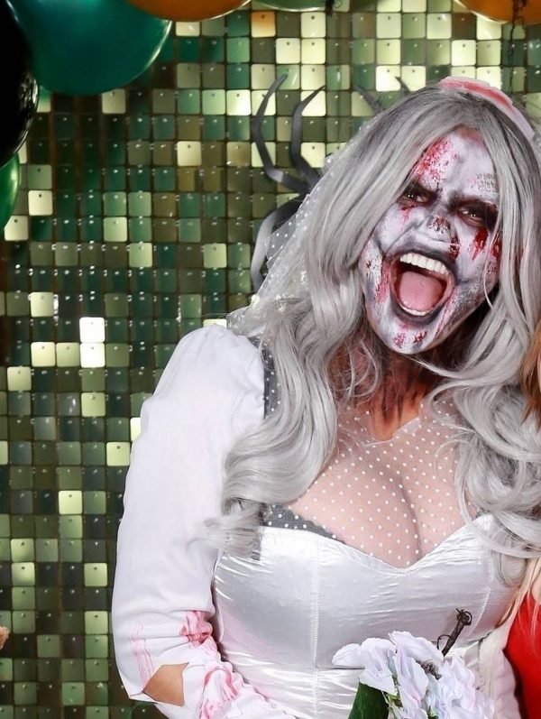 Kerry Katona Seen while celebrates Halloween at home in Sussex 09