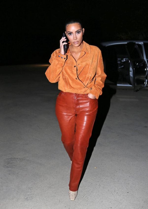 Kim Kardashian In leather and suede in Malibu 07